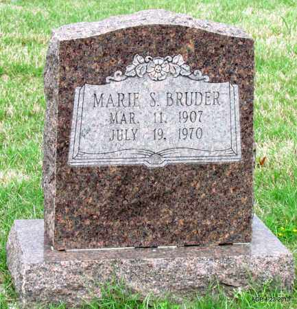 BRUDER, MARIE S - Arkansas County, Arkansas | MARIE S BRUDER - Arkansas Gravestone Photos