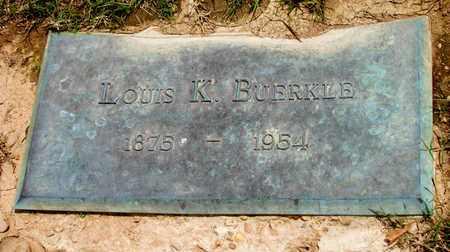 BUERKLE, LOUIS K. - Arkansas County, Arkansas   LOUIS K. BUERKLE - Arkansas Gravestone Photos