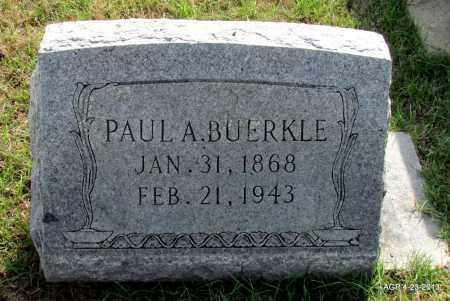 BUERKLE, PAUL A - Arkansas County, Arkansas | PAUL A BUERKLE - Arkansas Gravestone Photos