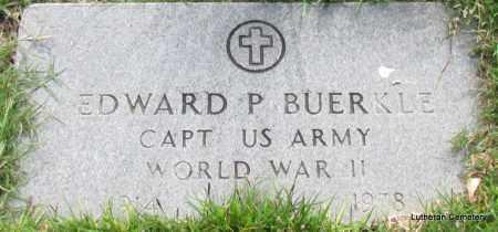 BUERKLE (VETERAN WWII), EDWARD P - Arkansas County, Arkansas | EDWARD P BUERKLE (VETERAN WWII) - Arkansas Gravestone Photos