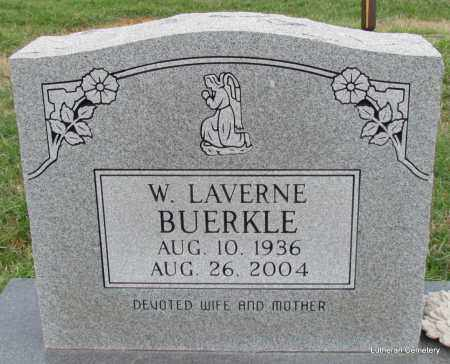 BUERKLE, W LAVERNE - Arkansas County, Arkansas | W LAVERNE BUERKLE - Arkansas Gravestone Photos