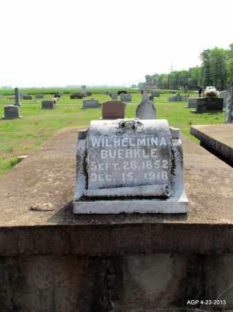 BUERKLE, WILHELIMINA - Arkansas County, Arkansas | WILHELIMINA BUERKLE - Arkansas Gravestone Photos