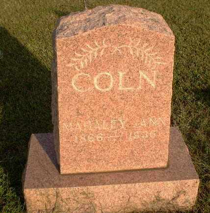 COLN, MAHALEY ANN - Arkansas County, Arkansas | MAHALEY ANN COLN - Arkansas Gravestone Photos