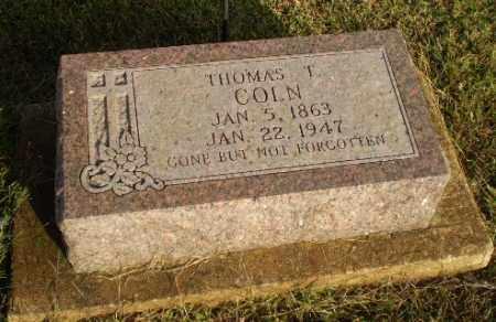 COLN, THOMAS T. - Arkansas County, Arkansas | THOMAS T. COLN - Arkansas Gravestone Photos