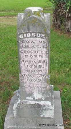CROCKETT, GIBSON - Arkansas County, Arkansas | GIBSON CROCKETT - Arkansas Gravestone Photos