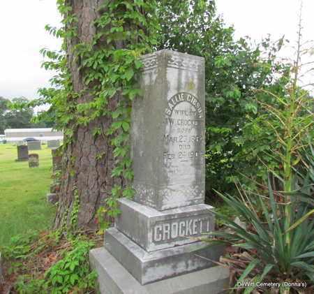 CROCKETT, SALLIE - Arkansas County, Arkansas | SALLIE CROCKETT - Arkansas Gravestone Photos