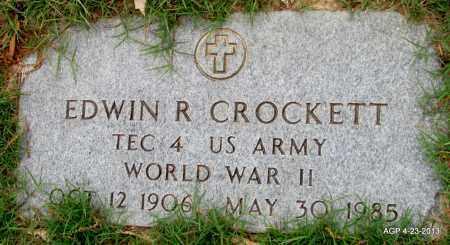 CROCKETT (VETERAN WWII, EDWIN R - Arkansas County, Arkansas   EDWIN R CROCKETT (VETERAN WWII - Arkansas Gravestone Photos