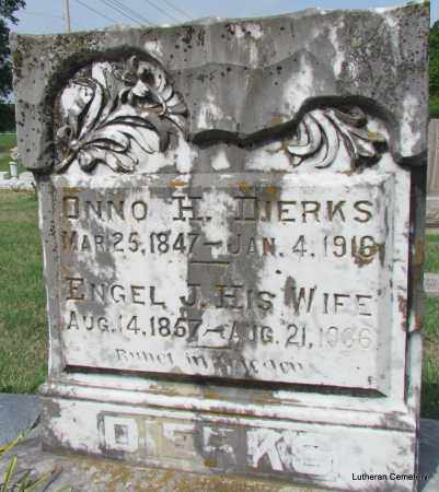 DIERKS, ONNO H - Arkansas County, Arkansas | ONNO H DIERKS - Arkansas Gravestone Photos