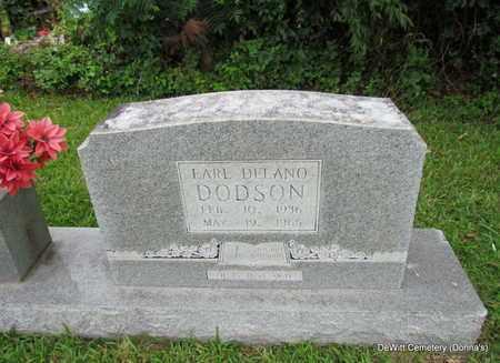 DODSON, EARL DELANO (CLOSE UP) - Arkansas County, Arkansas | EARL DELANO (CLOSE UP) DODSON - Arkansas Gravestone Photos