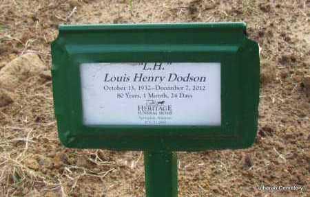 "DODSON (VETERAN), LOUIS HENRY ""L H"" - Arkansas County, Arkansas   LOUIS HENRY ""L H"" DODSON (VETERAN) - Arkansas Gravestone Photos"