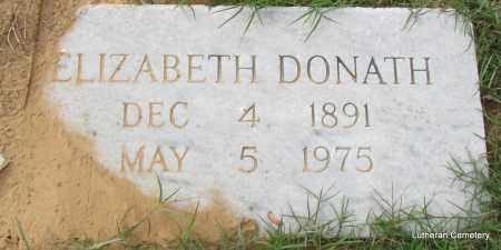 DONATH, ELIZABETH - Arkansas County, Arkansas | ELIZABETH DONATH - Arkansas Gravestone Photos