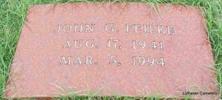 FEILKE, JOHN G - Arkansas County, Arkansas | JOHN G FEILKE - Arkansas Gravestone Photos