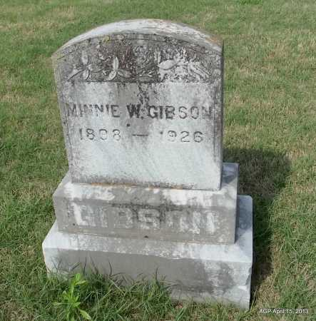 GIBSON, MINNIE W - Arkansas County, Arkansas | MINNIE W GIBSON - Arkansas Gravestone Photos