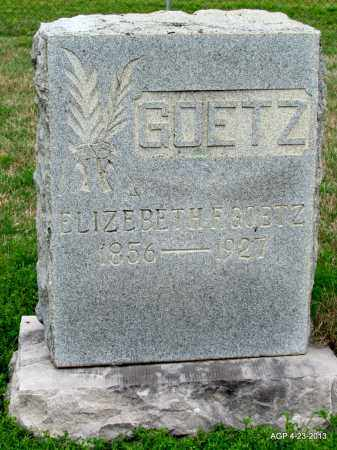 GOETZ, ELIZABETH F - Arkansas County, Arkansas | ELIZABETH F GOETZ - Arkansas Gravestone Photos
