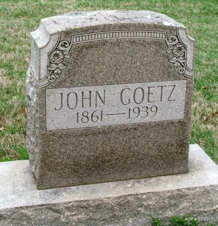 GOETZ, JOHN - Arkansas County, Arkansas | JOHN GOETZ - Arkansas Gravestone Photos