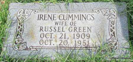 CUMMINGS GREEN, IRENE - Arkansas County, Arkansas | IRENE CUMMINGS GREEN - Arkansas Gravestone Photos