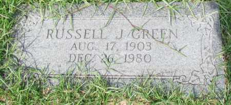 GREEN, RUSSELL J - Arkansas County, Arkansas | RUSSELL J GREEN - Arkansas Gravestone Photos