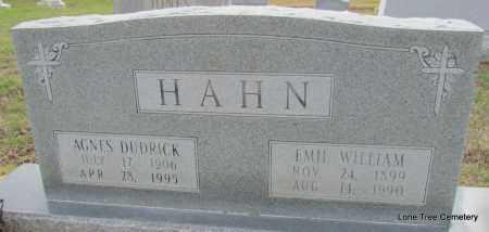 HAHN, EMIL WILLIAM - Arkansas County, Arkansas | EMIL WILLIAM HAHN - Arkansas Gravestone Photos