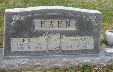 HAHN, JOHN L - Arkansas County, Arkansas | JOHN L HAHN - Arkansas Gravestone Photos