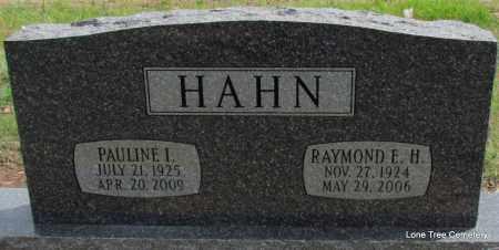 HAHN, PAULINE I - Arkansas County, Arkansas | PAULINE I HAHN - Arkansas Gravestone Photos