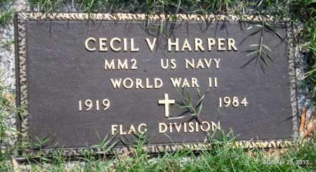 HARPER (VETERAN WWII), CECIL V - Arkansas County, Arkansas | CECIL V HARPER (VETERAN WWII) - Arkansas Gravestone Photos
