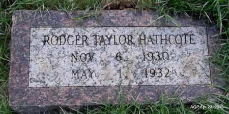HATHCOTE, RODGER TAYLOR - Arkansas County, Arkansas | RODGER TAYLOR HATHCOTE - Arkansas Gravestone Photos