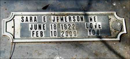 JEMERSON, SARA E. - Arkansas County, Arkansas | SARA E. JEMERSON - Arkansas Gravestone Photos