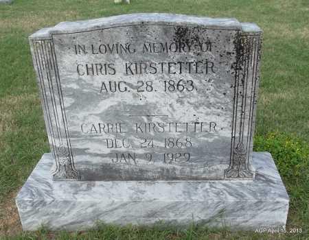 KIRSTETTER, CHRIS - Arkansas County, Arkansas | CHRIS KIRSTETTER - Arkansas Gravestone Photos