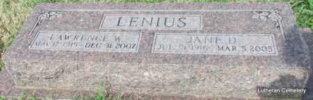 LENIUS, LAWRENCE W - Arkansas County, Arkansas   LAWRENCE W LENIUS - Arkansas Gravestone Photos