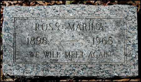 MARINA, ROSS - Arkansas County, Arkansas   ROSS MARINA - Arkansas Gravestone Photos