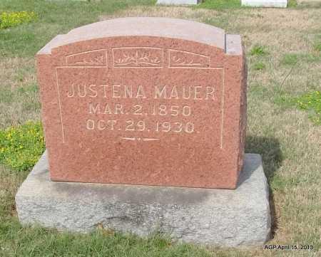 MAUER, JUSTENA - Arkansas County, Arkansas | JUSTENA MAUER - Arkansas Gravestone Photos