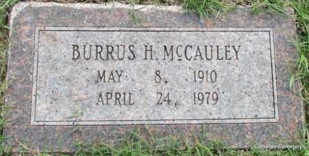 MCCAULEY, BURRUS H - Arkansas County, Arkansas | BURRUS H MCCAULEY - Arkansas Gravestone Photos