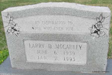 MCCAULEY, LARRY D - Arkansas County, Arkansas | LARRY D MCCAULEY - Arkansas Gravestone Photos