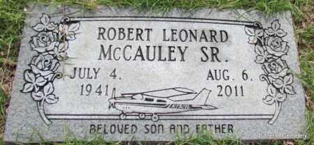 MCCAULEY, SR, ROBERT LEONARD - Arkansas County, Arkansas   ROBERT LEONARD MCCAULEY, SR - Arkansas Gravestone Photos