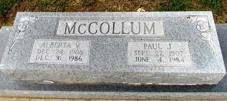 MCCOLLUM, ALBERTA V - Arkansas County, Arkansas | ALBERTA V MCCOLLUM - Arkansas Gravestone Photos
