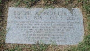 MCCOLLUM, BERCHIE M - Arkansas County, Arkansas | BERCHIE M MCCOLLUM - Arkansas Gravestone Photos