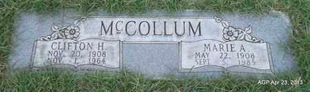 MCCOLLUM, MARIE A - Arkansas County, Arkansas   MARIE A MCCOLLUM - Arkansas Gravestone Photos