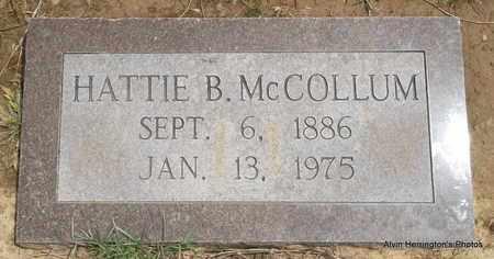 MCCOLLUM, HATTIE B - Arkansas County, Arkansas   HATTIE B MCCOLLUM - Arkansas Gravestone Photos