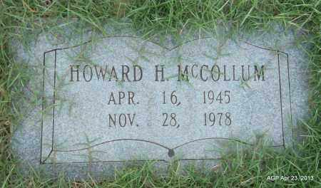 MCCOLLUM, HOWARD H - Arkansas County, Arkansas   HOWARD H MCCOLLUM - Arkansas Gravestone Photos