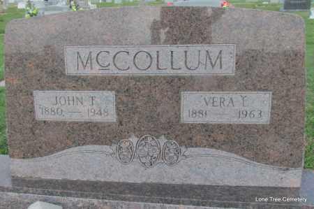 MCCOLLUM, JOHN T - Arkansas County, Arkansas | JOHN T MCCOLLUM - Arkansas Gravestone Photos