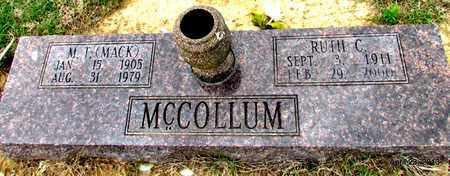 CANNON MCCOLLUM, RUTH - Arkansas County, Arkansas | RUTH CANNON MCCOLLUM - Arkansas Gravestone Photos