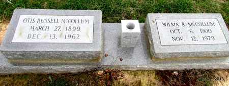 MCCOLLUM, OTIS RUSSELL - Arkansas County, Arkansas   OTIS RUSSELL MCCOLLUM - Arkansas Gravestone Photos