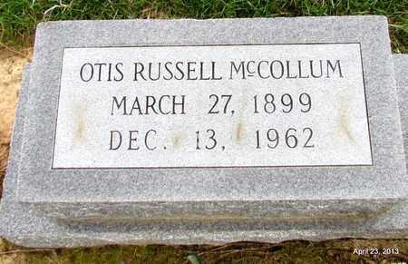 MCCOLLUM, OTIS RUSSELL (CLOSEUP) - Arkansas County, Arkansas | OTIS RUSSELL (CLOSEUP) MCCOLLUM - Arkansas Gravestone Photos