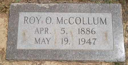 MCCOLLUM, ROY O - Arkansas County, Arkansas | ROY O MCCOLLUM - Arkansas Gravestone Photos