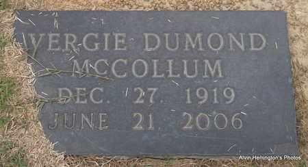 MCCOLLUM, VERGIE - Arkansas County, Arkansas | VERGIE MCCOLLUM - Arkansas Gravestone Photos