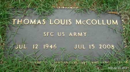 MCCOLLUM (VETERAN), THOMAS LOUIS - Arkansas County, Arkansas | THOMAS LOUIS MCCOLLUM (VETERAN) - Arkansas Gravestone Photos