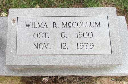 MCCOLLUM, WILMA R (CLOSEUP) - Arkansas County, Arkansas   WILMA R (CLOSEUP) MCCOLLUM - Arkansas Gravestone Photos