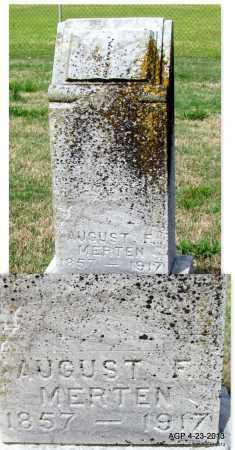 MERTEN, AUGUST F - Arkansas County, Arkansas   AUGUST F MERTEN - Arkansas Gravestone Photos