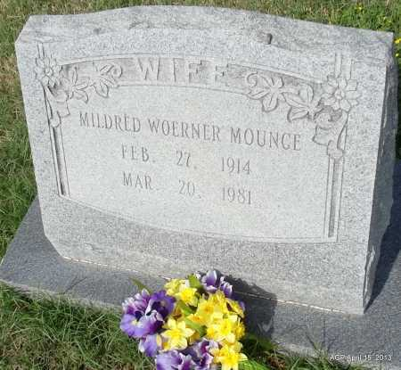 WOERNER MOUNCE, MILDRED - Arkansas County, Arkansas | MILDRED WOERNER MOUNCE - Arkansas Gravestone Photos