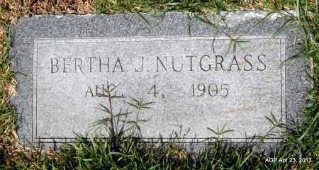 NUTGRASS, BERTHA J - Arkansas County, Arkansas | BERTHA J NUTGRASS - Arkansas Gravestone Photos